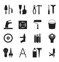 Tools and equipment for construction vector