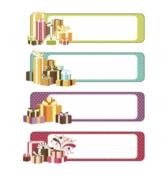 Four horizontal celebration banners vector image