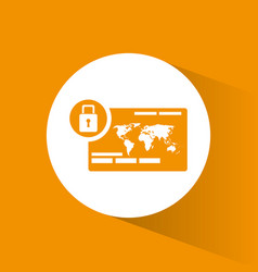 Cyber secuirty payment banking padlock vector
