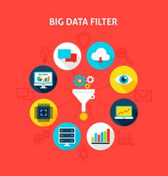 Concept big data filter vector