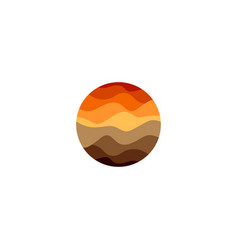 Isolated abstract orange color round shape logo on vector