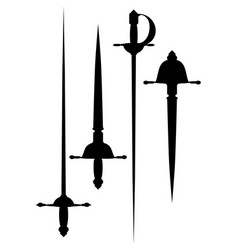 A set of ancient arms vector