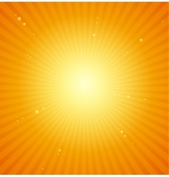 Orange sunburst bright background vector