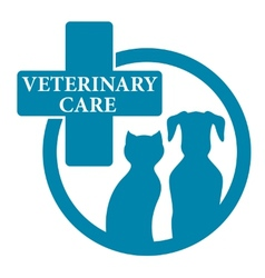 Blue medical veterinary sign vector