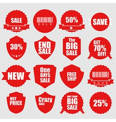 Set of sale icons design elements vector image