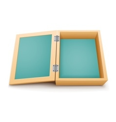 Open wooden box isolated vector