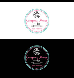 Bakery dessert logo template design vector