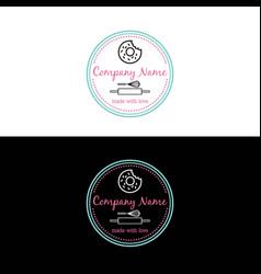 bakery dessert logo template design vector image vector image