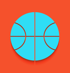 basketball ball sign whitish vector image