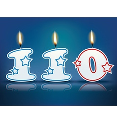 Birthday candle number 110 vector image vector image