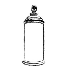 blurred silhouette aerosol spray bottle can icon vector image