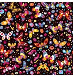 Butterflies pattern 2 vector