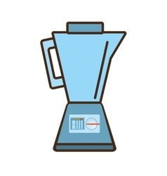 Cartoon blender kitchen appliance vector