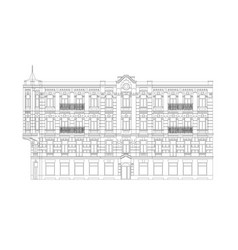 Facade of the classical building vector