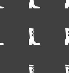 Female fall and winter shoe boot icon sign vector