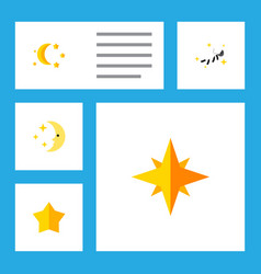Flat icon bedtime set of starlet bedtime vector