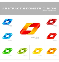 Geometrical sign logo design template vector