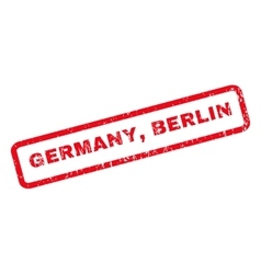 Germany Berlin Rubber Stamp vector image vector image