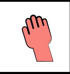 Human hand icon vector