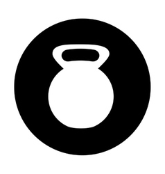 Kettlebell weight icon image vector