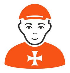 Maltese cross awarded man icon vector
