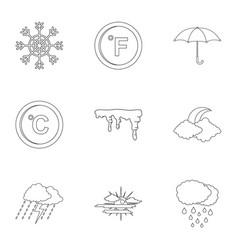 Meteorological observation icons set outline vector