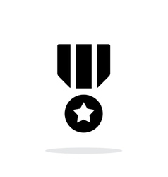 Military medal seample icon vector