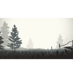 Morning mist vector