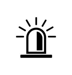 Police flasher icon vector