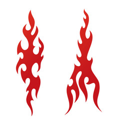Red tattoo fire flames vector