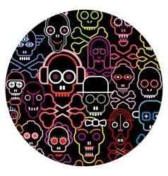 skulls round vector image