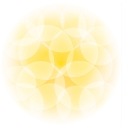 sunny bokeh effect vector image