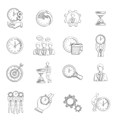Time Management Sketch vector image vector image