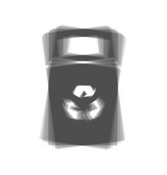 Trashcan sign gray icon vector