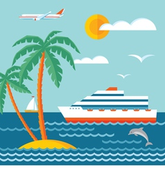 Travel cruise - flat style vector