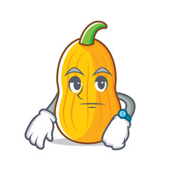 Waiting butternut squash mascot cartoon vector
