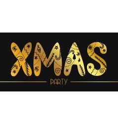 Xmas party banner vector