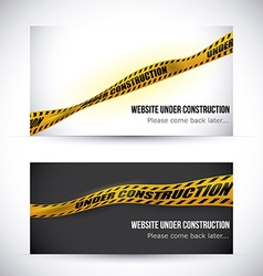 Yellow tape design vector image