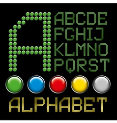 Green battons letters alphabet p1 vector