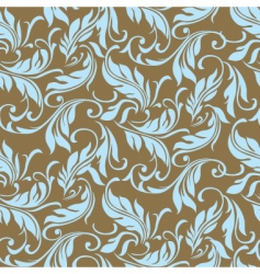 feather floral seamless pattern vector image