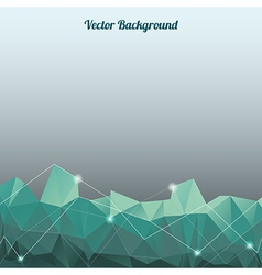 Background with lines circles and shapes vector