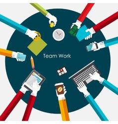 Team Work Flat Concept vector image