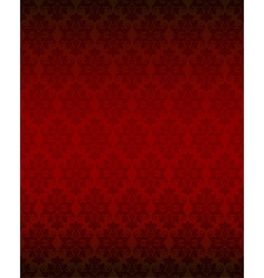 Luxury seamless red floral wallpaper vector
