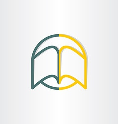 open book abstract symbol design vector image