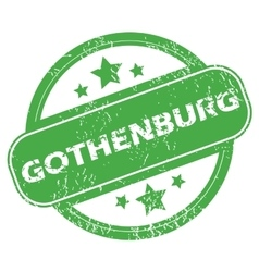 Gothenburg green stamp vector
