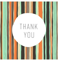 Thank you card retro vector