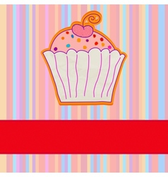 Retro cupcake background vector