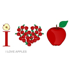 I love apples vector