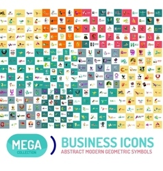 Logo mega set abstract geometric business icon vector image