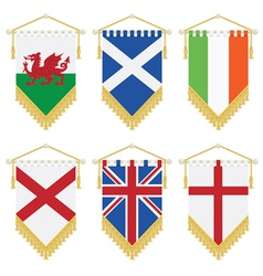 Uk and ireland pennants vector